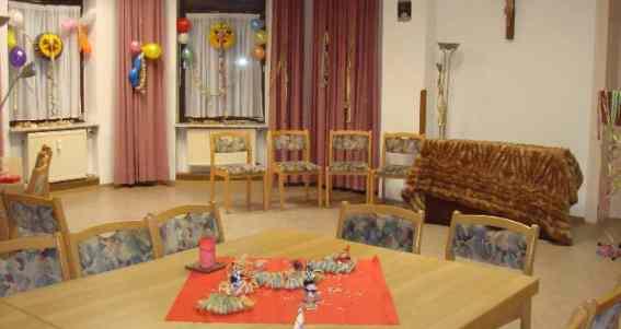 Der Raum zum Feiern