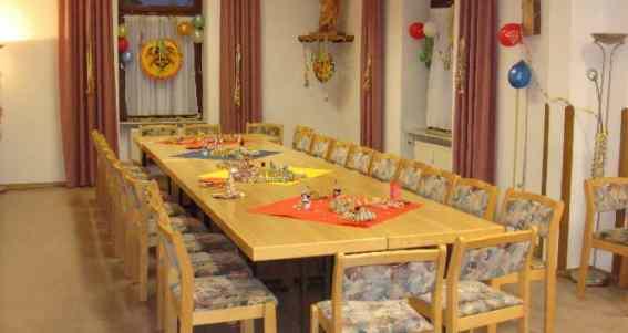 Der Raum zum Feiern an Fastnacht